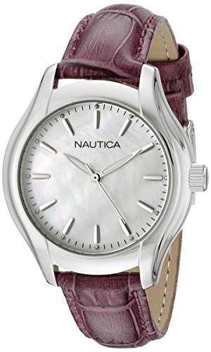 Nautica Women's NAD11004M NCT 18 MID Analog Display Quartz White Watch