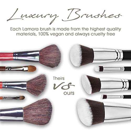 Make Up Brush Foundation Kabuki Set - Face and Eye Makeup - Professional Quality Synthetic Bristles For Powder, Blush, Concealer - Perfect For Liquid, Cream or Mineral Products
