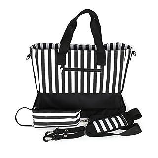 ANGELNEWS Diaper Bag Baby Nappy Tote Bag with Changing Pad & Bottle Holder– Multi-function – Practical Shoulder & Stroller Straps – Internal & External Pockets