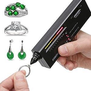 Dupeakya Professionelle Diamond Selector Ii, Gold Testing Pen Tragbare Elektronische Schmuck Tester Tool für Achat Jade Ruby Gem