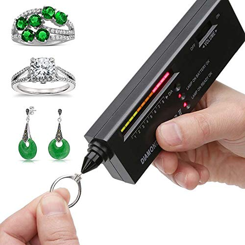 Dupeakya Professionelle Diamond Selector Ii, Gold Testing Pen Tragbare Elektronische Schmuck Tester Tool für Achat Jade Ruby Gem -