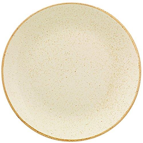 Assiettes plates sidina, 28 cm (d), beige, coup 6 unités/paquet