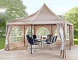 Grasekamp Ersatzdach 4x4m zu Lounge Pavillon Sahara Sand