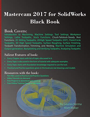 Mastercam 2017 for SolidWorks Black Book