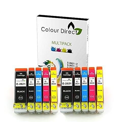 10 XL ColourDirect 26XL cartouches d'encre compatibles pour la série Epson Expression Premium XP-600, XP-605, XP-700, XP-800, XP-510, XP-520, XP-610, XP-615 ,XP-620, XP-625, XP-710, XP-720, XP-820 Imprimante