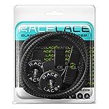 No Label Race Lace - Elastische Sport Schnürsenkel Mit Schnellverschluss + Schnellschnürsystem | Komfort, Halt + Zeit Sparen mit Profischnürsenkel für Sportschuhe | Ideal Für Kinder & Erwachsene Schwarz