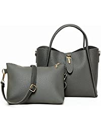 Women Handbags PU Leather Top Handle Tote Bag 2 Piece Set For Travel Work School Totes Purse With Side Pockets...