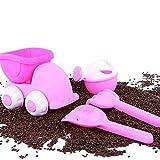 Beach Toys Set Sandbox Zubehör Soft Beach Sand Spielzeug Sand Formen Eimer LKW Schaufel Rake Gießkanne Outdoor Pool Bad Spielen 1 Set Pink