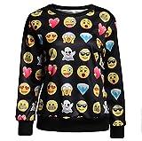 Surenow Femme Homme Sweat-shirt Pull Emoji Manche Longue L