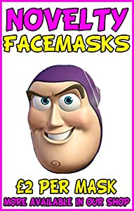 Buzz Lightyear Novelty Celebrity Face Mask Party Mask Stag ...