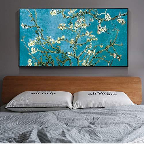 Mandelblüte Malerei An Der Wand Van Gogh Impressionist Maler Mandelblüte Wandkunst Leinwand Druck Cuadros Bild Home Decoration Malerei 30x60 cm ungerahmt Gelb