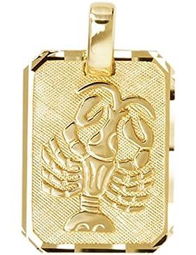 MyGold Sternzeichen Anhänger (Ohne Kette) Gelbgold 333 Gold (8 Karat) Matt Glanz 21mm x 12mm Tierkreiszeichen...