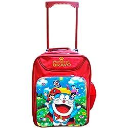 Worldcraft Doraemon 15 inch Waterproof Trolley Hybrid Children's Backpack (Red)