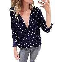 Hanomes Damen pullover, Damenmode Langarmhemd Polka Dot Print Casual Tops preisvergleich bei billige-tabletten.eu