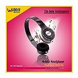 Ubon UB-1370 On Ear Headphones with Pure Bass and Mic - Black