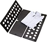 #6: House of Quirk Shirt Folding Board Fast Laundary Fold and Flip Adjustable Clothes Folder - Black