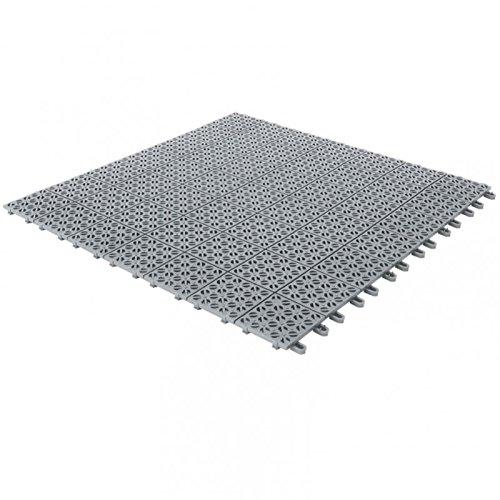 Piastre Da Giardino In Plastica.Piastrelle Flessibili In Plastica 55 5 X 55 5 Cm Da Interno