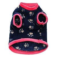 erthome 1xFashion Pet Dog Cat Villus Warm Clothes Puppy Doggy Apparel Clothing (L, Navy)