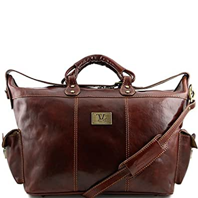 81409384 - TUSCANY Leather: Porto -Travel leather weekender bag, brown