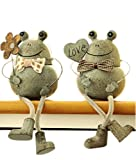 GYIP Netter Frosch Shaped-Sukkulenten Blumentöpfe/Harz Blumentopf Tisch Ornament Pastoralen Stil Handwerk Garten Dekor Außenterrasse Ornamente Kunst Figuren Hof Dekorationen Cartoon Home Decor, 16