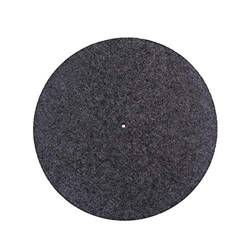 SUPVOX Plattenteller Matte Schallplattenmatte Anti Vibration Wollmatte für Schallplattenspieler (grau) - Plattenspieler-matte Leder