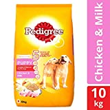 Pedigree Puppy Dry Dog Food, Chicken & Milk – 10 kg Pack