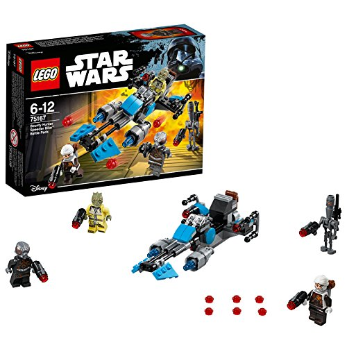 LEGO - Star Wars - Pack de combat la moto speeder du Bounty Hunter - 75167 - Jeu de Construction
