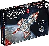 Geomag- Special Edition Rocket NASA Construction Magnétique, 810, Blanc, Gris, Rouge, 84 pièces