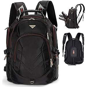 freebiz sac dos pour ordinateur portable multifonction 18 4 pouces en noir ordinateur. Black Bedroom Furniture Sets. Home Design Ideas