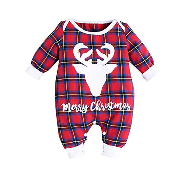 cinnamou Conjuntos Bebe NiñA 3Pcs, Pijama De Navidad Tops Estampado De Letras Mameluco De Cuello Redondo Manga Larga… 1