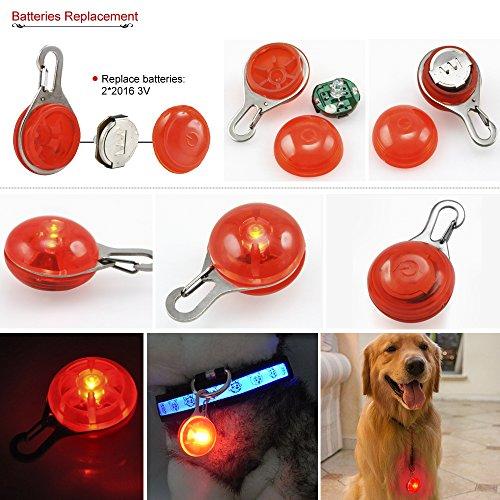 DIGIFLEX LED-Blinklicht für Hundehalsband für Haustier Hund Katze Halsband rot - 6