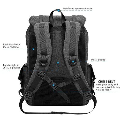 """MOCA Canvas 15.6"""" Black Laptop Backpack Image 3"""