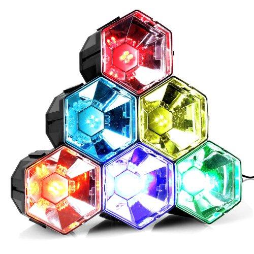 oneConcept RBL1 • Disco-Pyramide • LED-Lichteffekt • Discolicht-Effekt • 6x4 RGB-LEDs • Netz-Betrieb • Automatik-Modus • energiesparend dank LEDs • geringe Hitzentwicklung • einfaches Handling • Plastik-Gehäuse • 6 Farben • flexibel platzierbar • schwarz