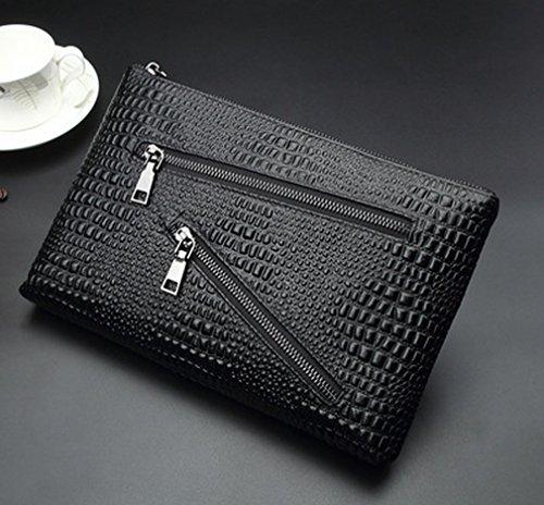 Q Billetera Business Beiläufige Männer 'S Handtasche Groß - Kapazität Handpaket Tasche Multi - Karte Reißverschluss Tasche 3