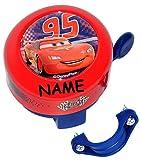 Fahrradklingel -  Disney Cars / Lightning McQueen  incl. Namen - Klingel für das Fahrrad - für Kinder Jungen Mc Queen - auch für den Roller / Dreirad Lenker..