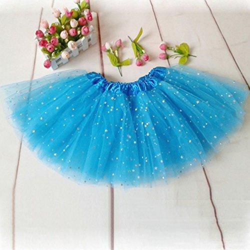 Mädchen Kinder Tutu Rock Shining Party Winbind Ballett Tanz tragen Kleid Pettiskirt Kostüm flauschige Rüschen pettiskirt