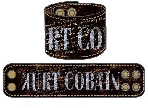 Kurt Cobain Leather Wrist Band (Lederarmband) [Edizione: Germania]