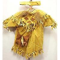 Indianerkleid kawenSTOFFE Puppenkleid 52 wei/ß Gr Wildlederimitat