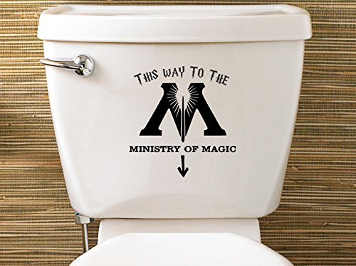 Harry Potter Inspired Ministry Of Magic Toilet Sticker