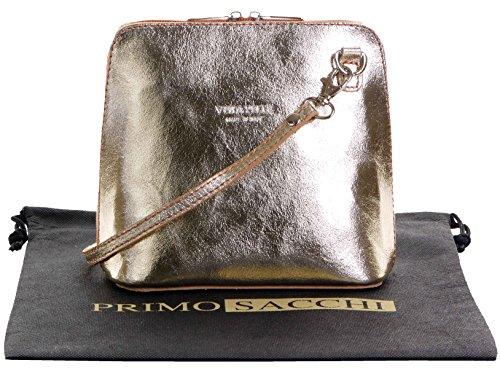 - 51juTxYcbfL - Italian Leather, Metallic Gold Small/Micro Cross Body Bag or Shoulder Bag Handbag. Includes Branded a Protective Storage Bag.