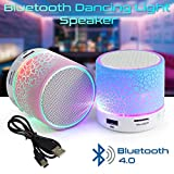 Mini LED Portable Bluetooth Speaker Wireless Subwoofer with Colorful Light and Build-in Mic