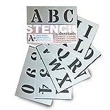 Lettrage Pochoir Grands Chiffres et Lettres de L'Alphabet 5cm ROMAIN Majuscules sur 6 feuilles de 20 x 14.8cm