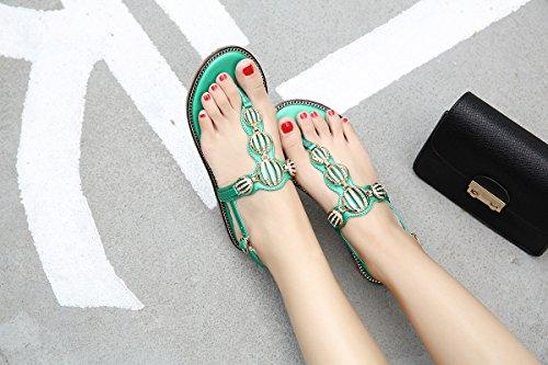 GS~LY Cadeau de fête des mères Sandales de plage en Europe et aux États-Unis sandales Black