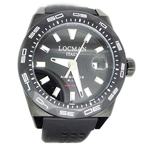Watch Locman Men 0215V4-kkcknks2K Automatic Titanium quandrante Black Silicone Strap