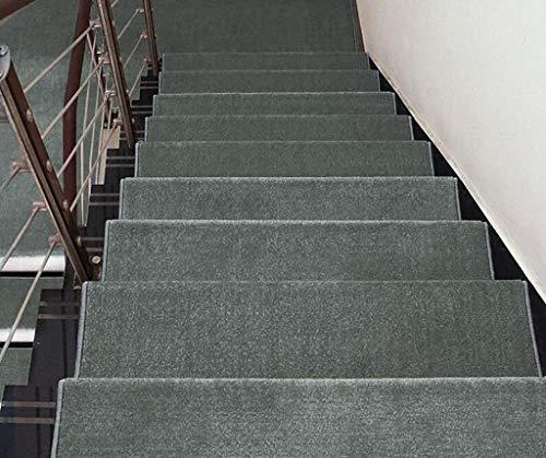 ATR Treppenhaus-Pad/kann gewaschen Werden Rutschfeste Treppenhaus-Pad/rechteckige Treppenhaus-Pad (Farbe: 2 * (EIN Satz von DREI), Größe: 90X24CM) (Satz Von Drei Couchtische)