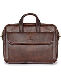 The Clownfish Ríoga Laptop Briefcase | Laptop Bag for 14 inch laptops| Laptop Case | Messenger | (Brown)