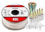 Cable para altavoces MutecPower - 2 x 4mm² (12AWG) 100 m, con clasificación CL2, cobre libre de oxígeno (para instalaciones empotradas) 15 metros