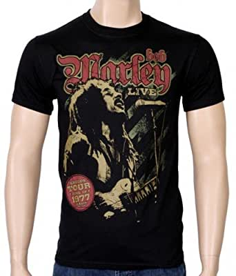 Coole-Fun-T-Shirts T-Shirt Bob Marley - 1977 Reagae Exodus Tour, schwarz, M, FT144