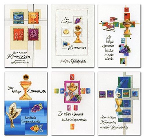 50 Glückwunschkarten Kommunion Grußkarten Klappkarten Umschläge 12-2140