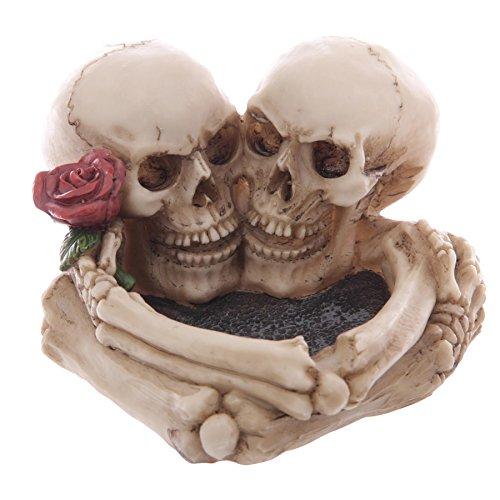 Cenicero Decorativos - Corazón de Calaveras
